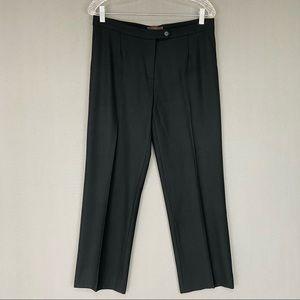 Peserico Black Wool Cropped Ankle Dress Pants 8